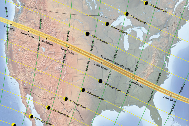 2017 eclipse track with partial phases