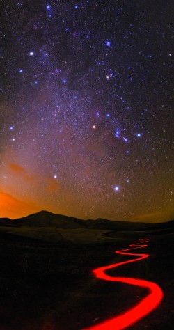 Nightscape in Iran's Alborz Mountains