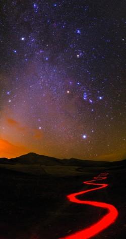 Nightscape in Iran's Alborz Mountains
