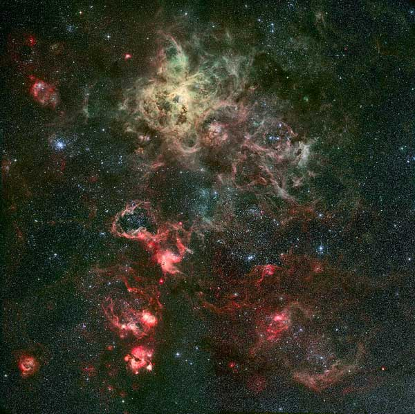 Tarantula Nebula and its surroundings