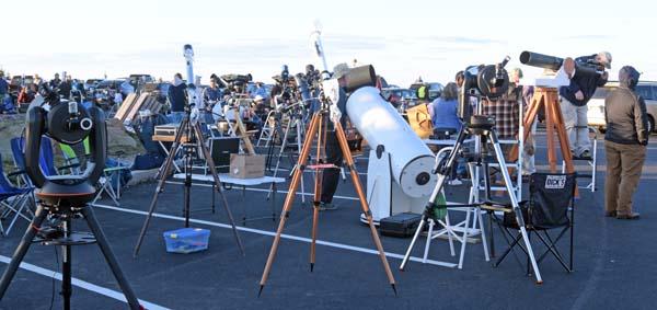 Telescopes on Cadillac Mountain