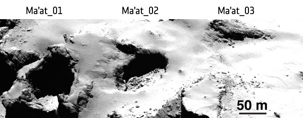 Ma'at 02 region on Comet 67P