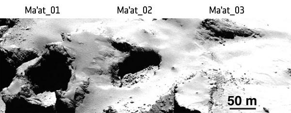 Ma'at 02 region on Comet 67P