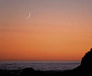 Thin Moon and Venus