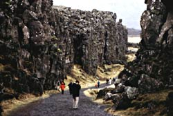 Lava wall at Thingvellir