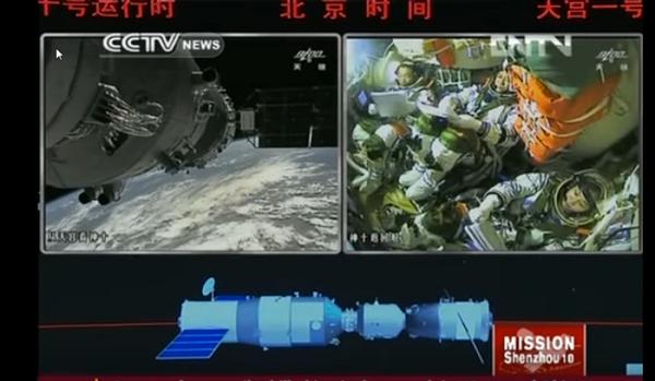 Tiangong-1 docking