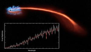 star eaten by black hole