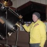 Tim Hunter and his telescope