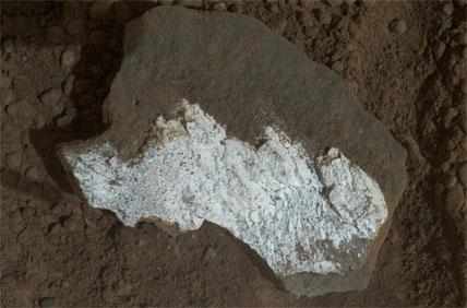 "Close-up of whitish rock ""Tintina"""