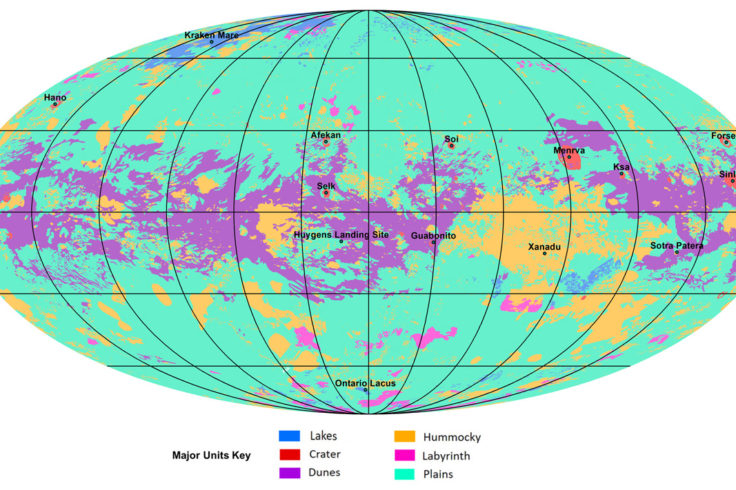 Global map of Titan's geological features