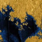 Titan lakeshore closeup