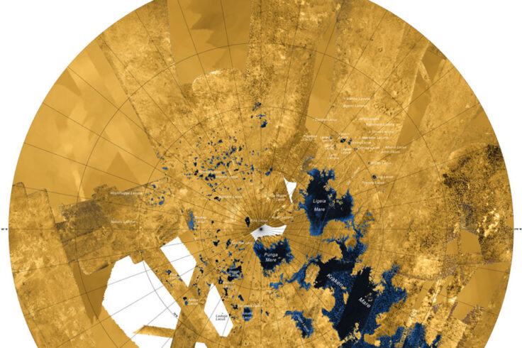 radar map of Titan's north pole