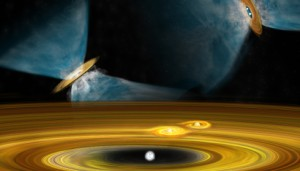 An artist's conception of star formation