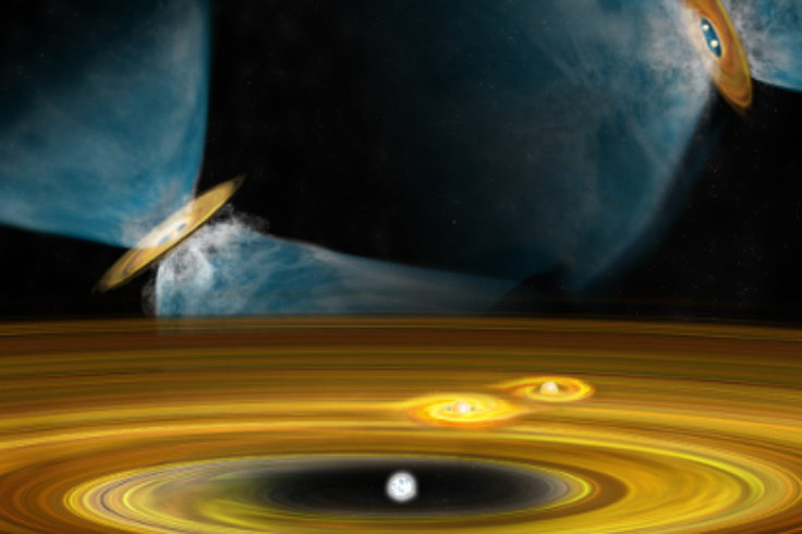Artist's conception of star formation