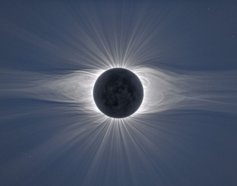 An image of the total solar eclipse on July 2, 2019 from Chile