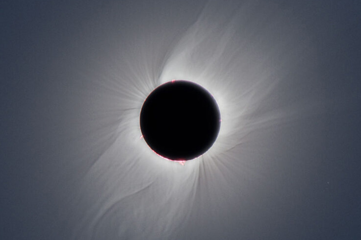 Total solar eclipse above Patagonia in December 2020
