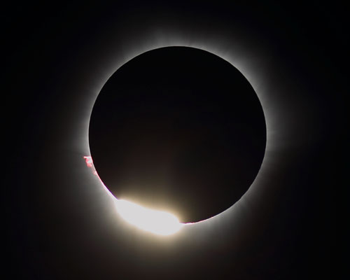 2016 Total Solar Eclipse by Claude Baril