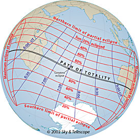 Path of December 4 total solar eclipse