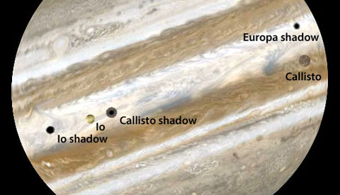 Triple Shadow Event on Jupiter January 23, 2015