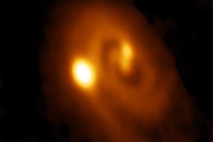 ALMA images triple protostar system
