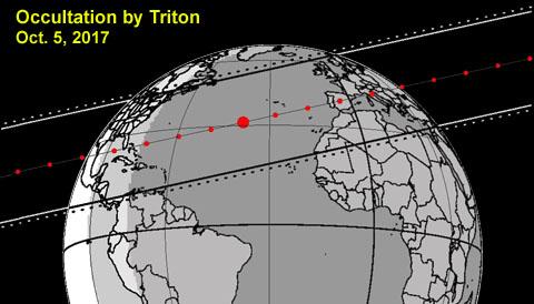 Triton occultation map