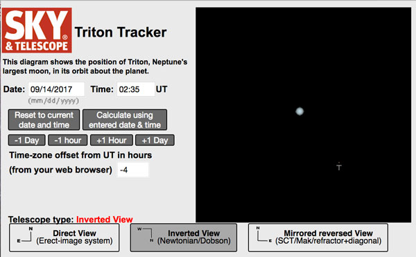 Track Triton with this interactive observing tool