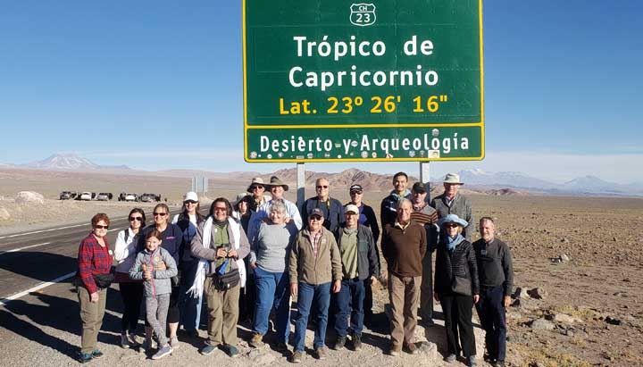 Tropic of Capricorn in Chile