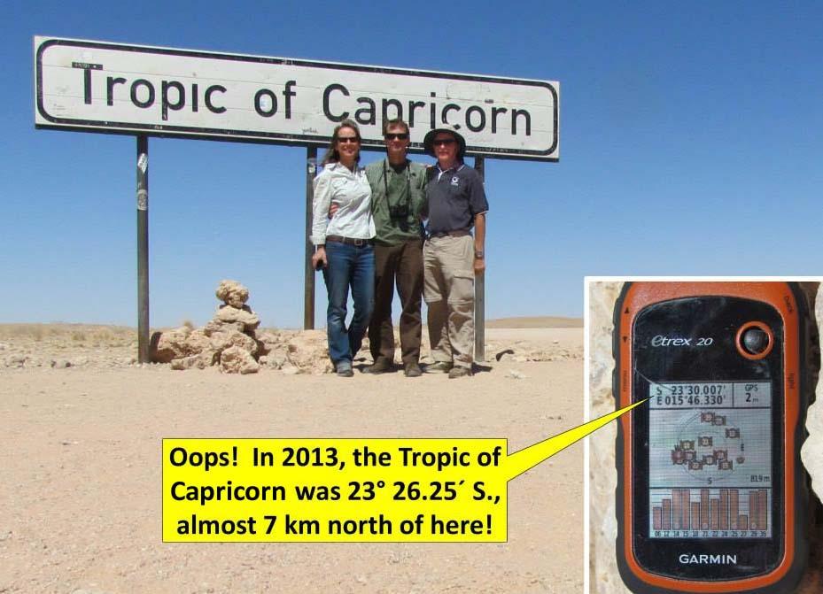 Tropic of Capricorn in Namibia 2013