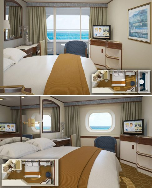Two cabins on Pacific Explorer
