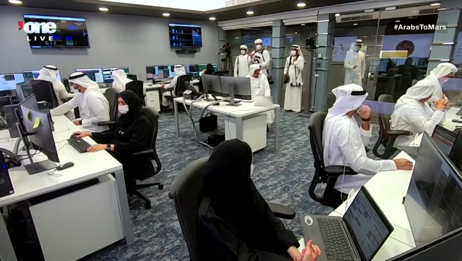 Emirates Mars mission control