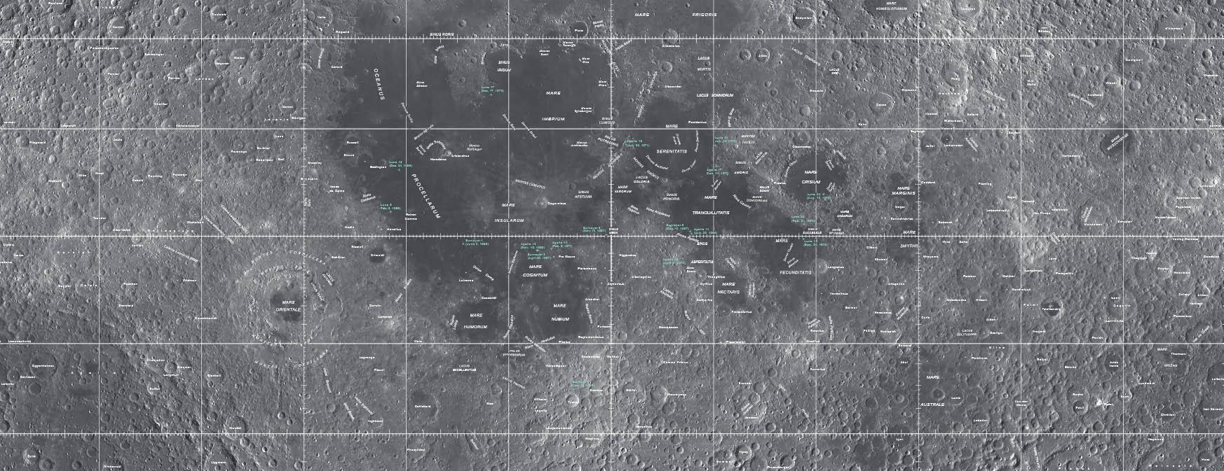 USGS Lunar Map (visual version)
