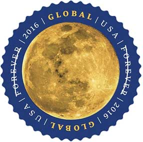 USPS Moon stamp