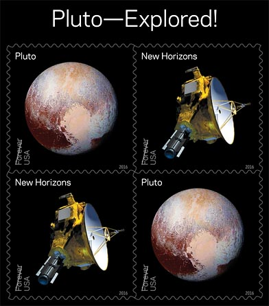 USPS Pluto stamps sheet
