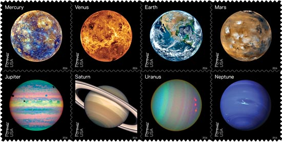 Solar System Featured On New U S Stamps Sky Amp Telescope