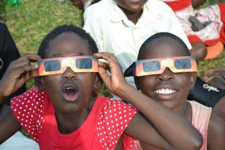 Ugandan children see annular solar eclipse in 2013