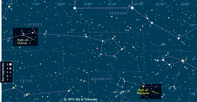 Click to download finder charts for Uranus and Neptune in 2015–16.