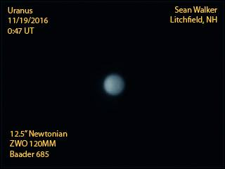 Uranus with bright north polar region