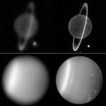 Uranus before and after AO