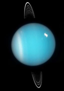 Uranus's rings feature in this 2005 shot from Hubble Space Telescope. NASA / ESA / and M. Showalter