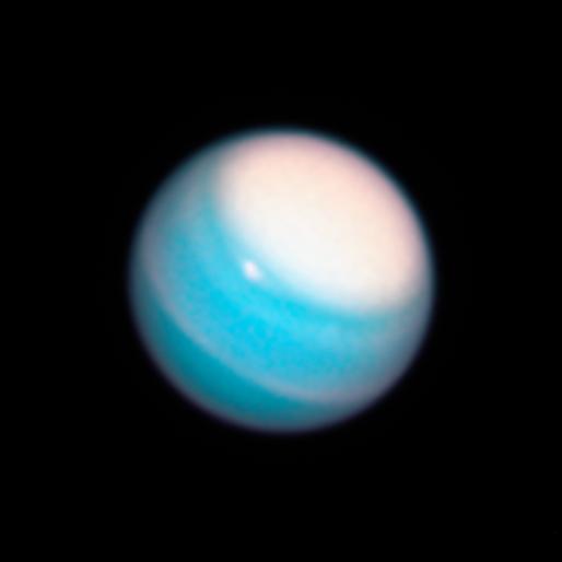 Uranus polar cap