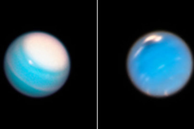 Neptune and Uranus in late 2018