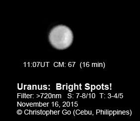 Uranus on Nov. 16, 2015