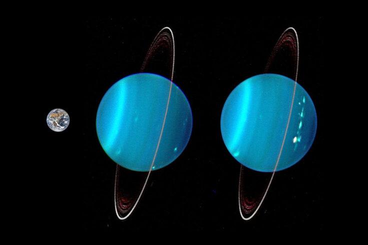 Earth and Uranus compared