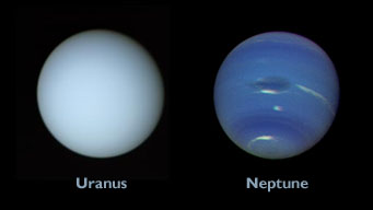 Uranus and Neptune as seen by Voyager 2