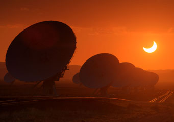 Annular eclipse VLA