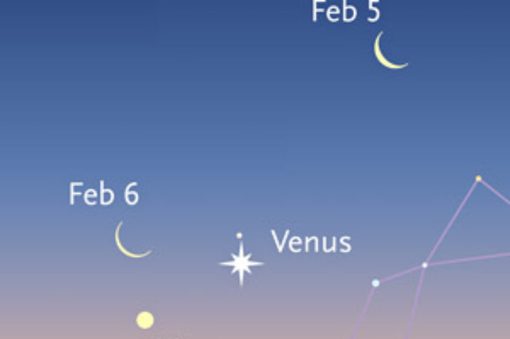 Venus-Mercury-Moon in early February 2016