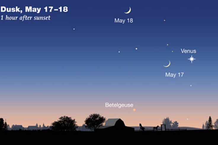 Venus and Moon, May17-18