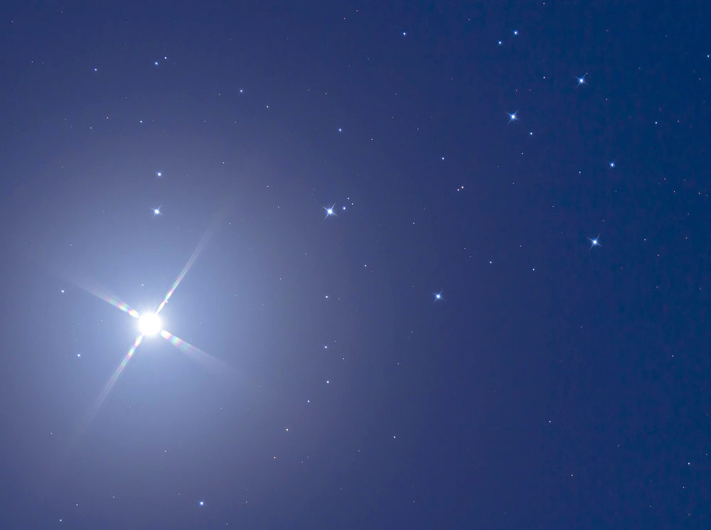 Venus meets the Pleiades eight years ago