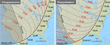 Maps of Venus's occultation