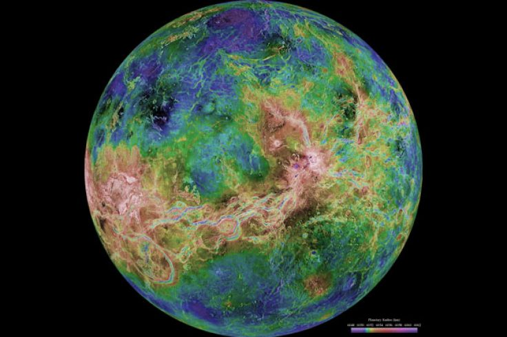 Radar view of Venus
